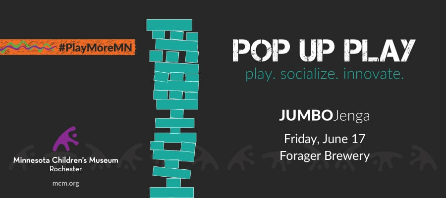 Power of Play in Rochester:  JUMBOJenga at Forager Brewery