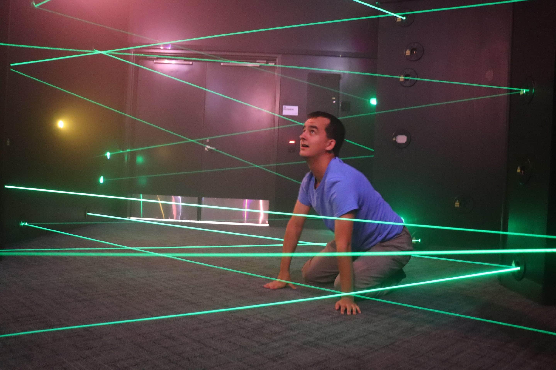 Adults at play laser