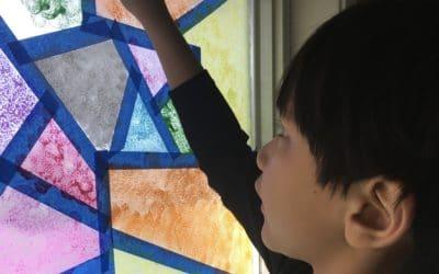 DIY Window Mosaic
