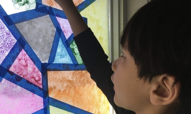 DIY Window Mosaic